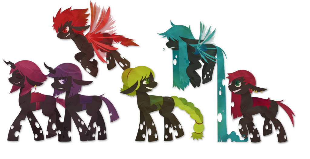 картинки пони перевёртыши